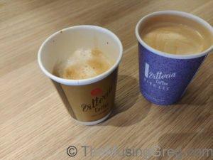 Passable coffee, but not brilliant. Qantas Club, Adelaide Airport.